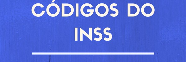 CODIGOS DO INSS