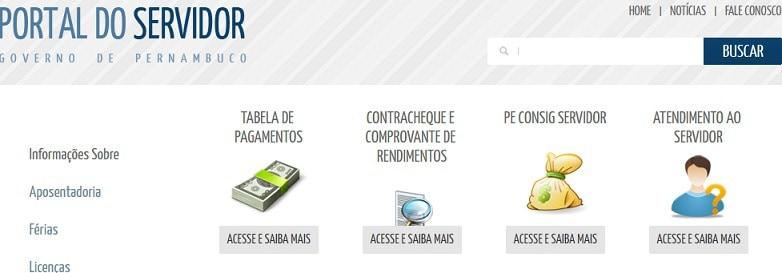 serviços do portal do servidor pe