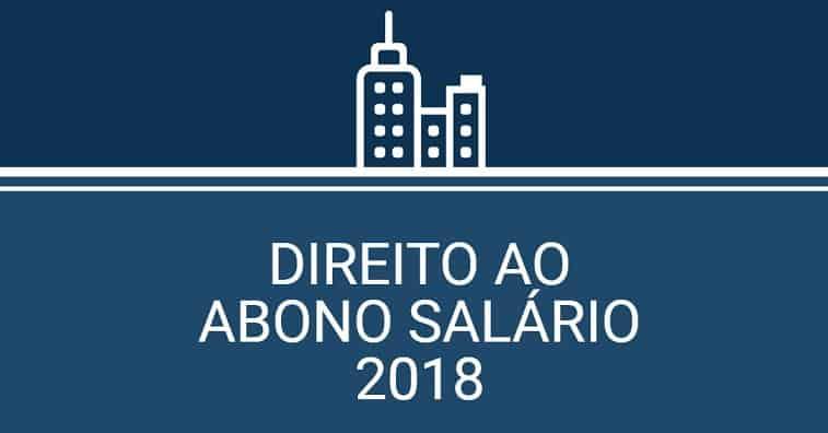 direito ao abono salário 2018