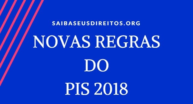novas regras do pis 2018