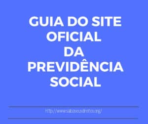 guia do site oficial INSS